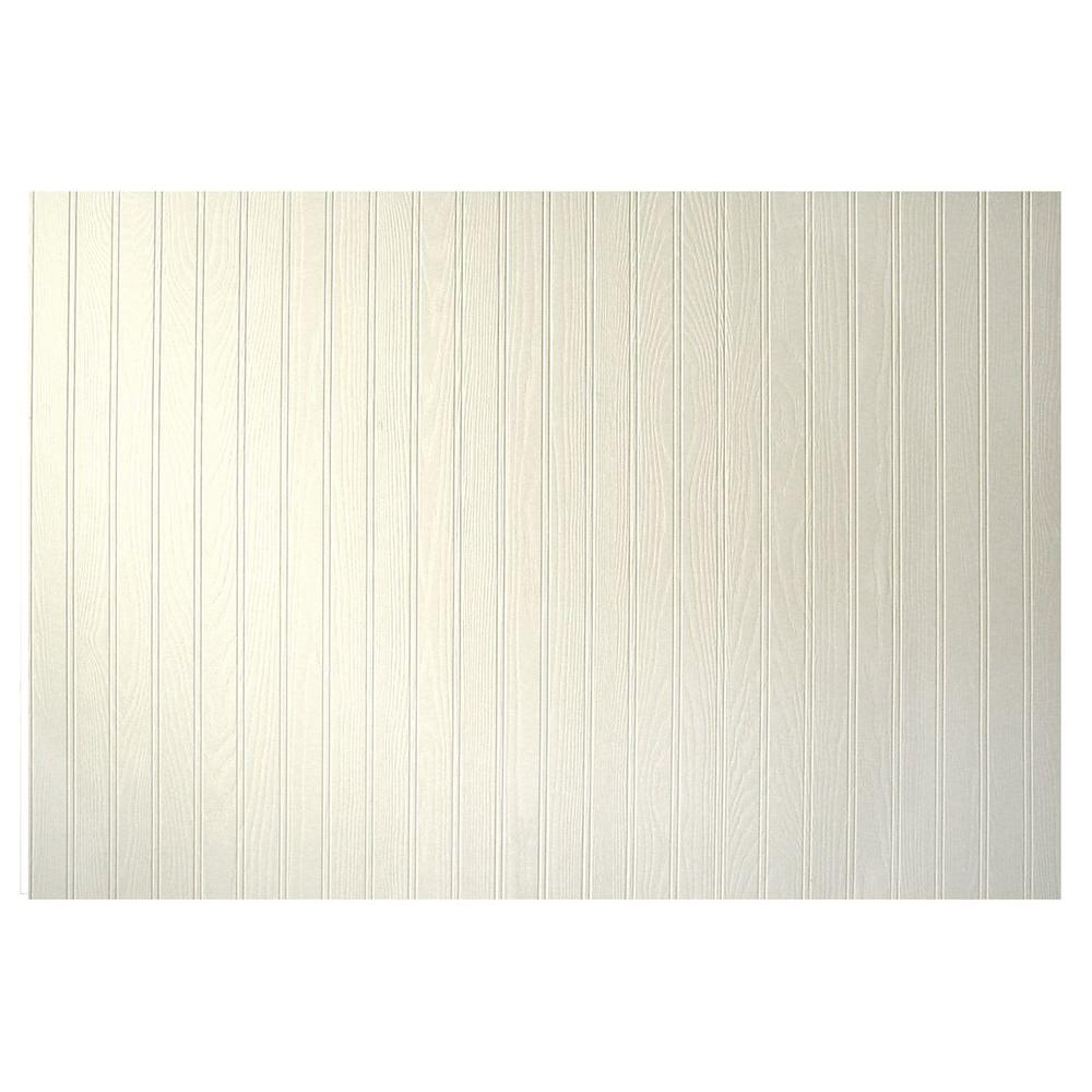 unbranded 3/16 in. x 48 in. x 32 in. Pinetex White Wainscot Panel