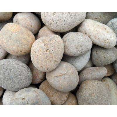 1 in. to 2 in. Buff Mexican Beach Pebble (500 lb. Mini Sack)