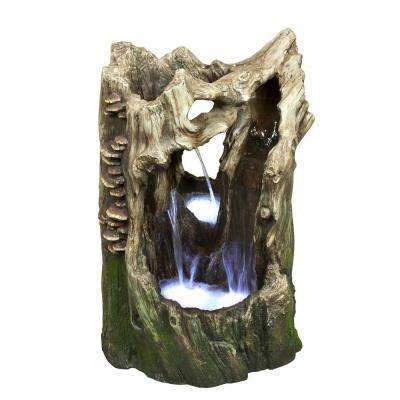 22 in. Cascading Tree Trunk Rainforest Fountain