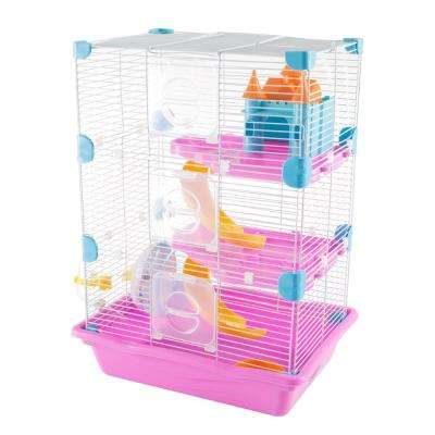 3 Story Pink Hamster Cage Habitat