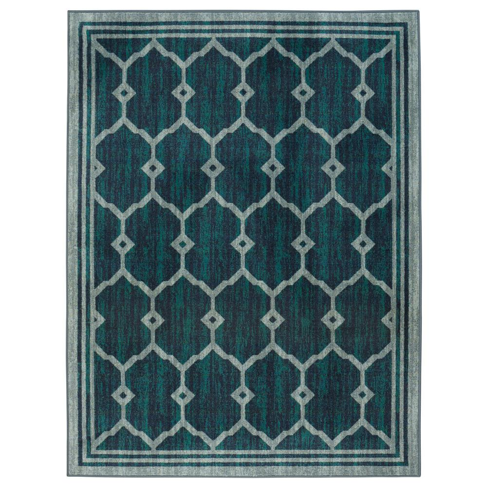 Authentic Collection Contemporary Trellis Design Green 3 ft. x 5 ft.