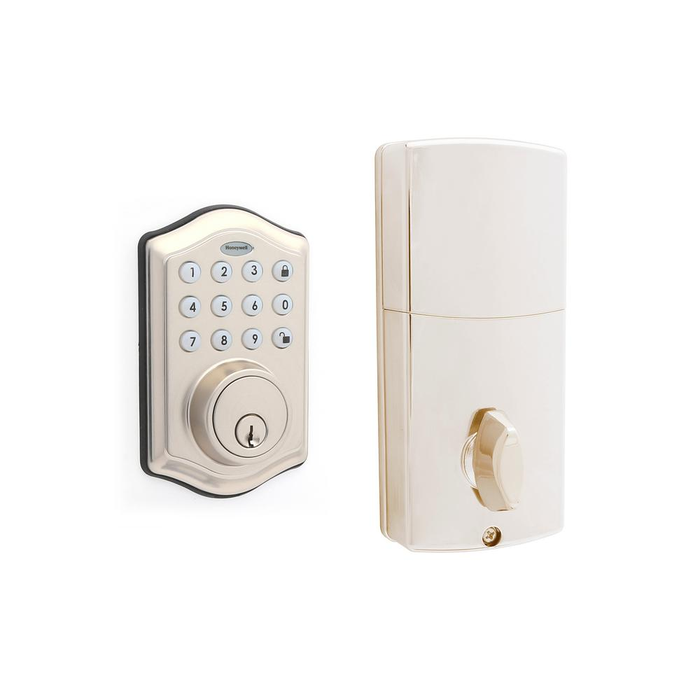 Electronic Keypad Satin Nickel Single Cylinder Deadbolt Lock