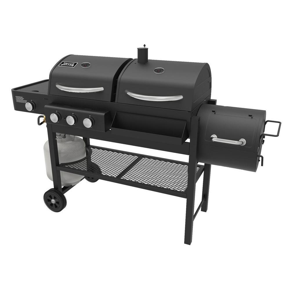 Smoke Hollow 3-Burner Propane Gas/Charcoal Combo Grill in Black