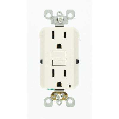 15 Amp 125-Volt Duplex Self-Test Slim GFCI Outlet, White