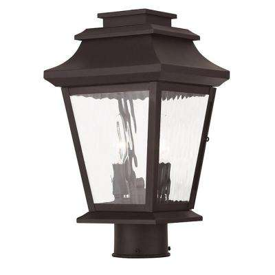 Hathaway 2-Light Bronze Post Light