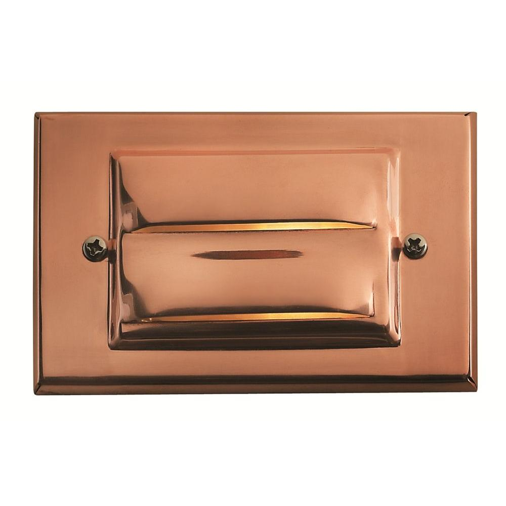 Copper Recessed LED Outdoor Deck Light