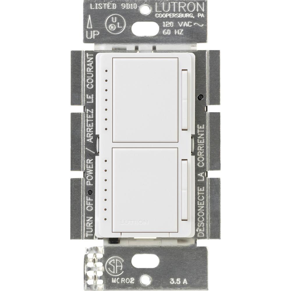 Maestro 300-Watt Single-Pole Dual Digital Dimmer - White