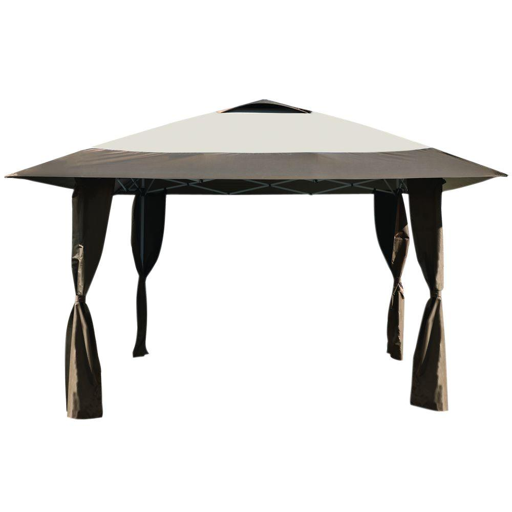 Caravan Canopy Haven Instant Canopy 12 ft 7 in. x 12 Ft x 7 in  sc 1 st  The Home Depot : brown canopy tent - memphite.com
