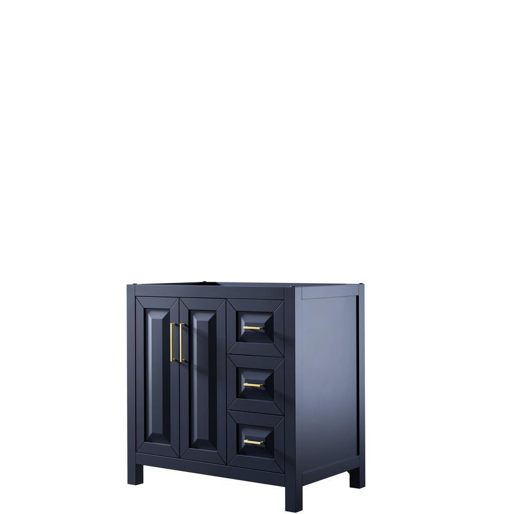 Daria 35 in. Single Bathroom Vanity Cabinet Only in Dark Blue