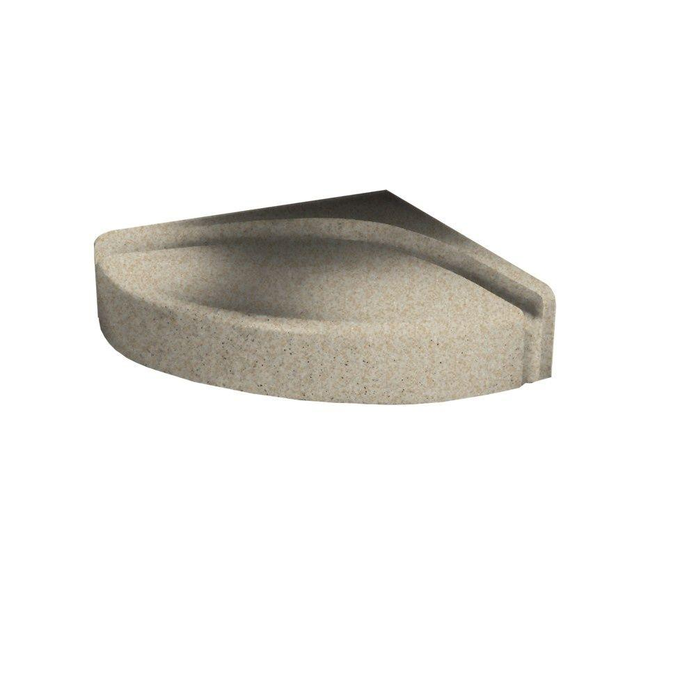 Swanstone 4 in. H Shower Seat in Winter Wheat-DISCONTINUED