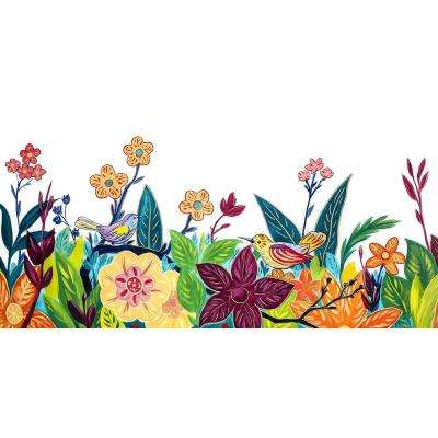 "30 in. x 60 in. ""Glory Garden"" by Mat Printed and Painted Canvas Wall Art"