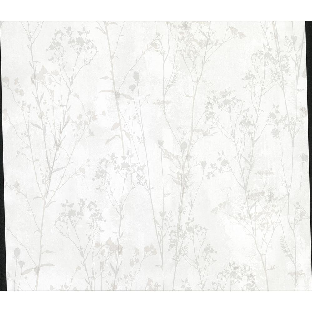Advantage Tanner Off White Floral Silhouette Wallpaper 2814 802016