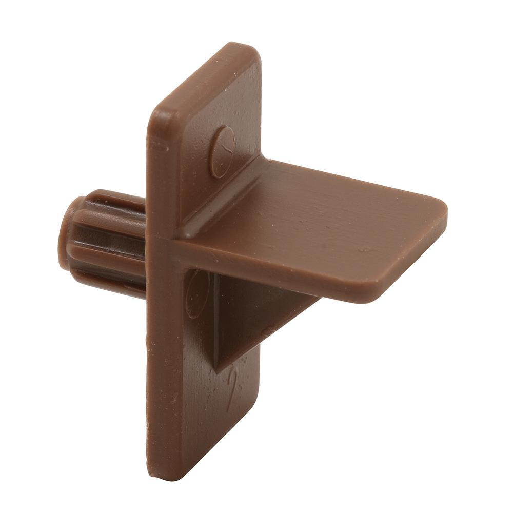 Kitchen Shelf Brackets: Prime-Line 1/4 In. Brown Plastic Shelf Support Peg (8-Pack
