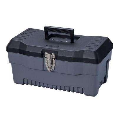 16 in. Professional Plastic Tool Box with Lift Out Tote Tray
