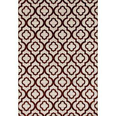 Moroccan Trellis Pattern High Quality Soft Red 7 ft. 10 in. x 10 ft. 2 in. Area Rug
