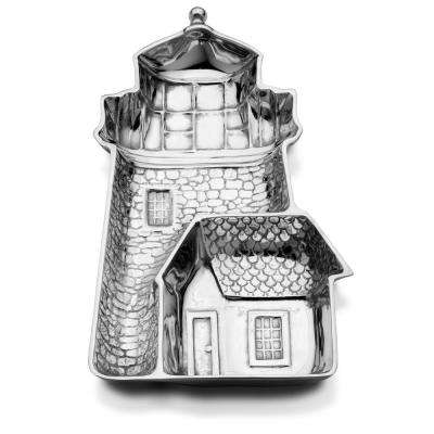 Sea Life 16 in. x 9 in. Lighthouse Chip and Dip Server
