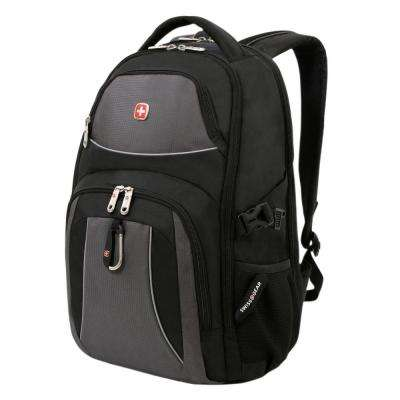 18.5 in. Black Cod and Grey Backpack