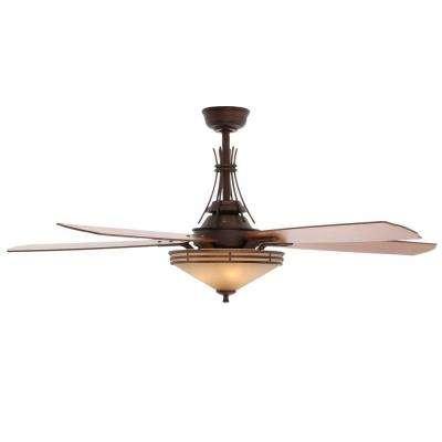 Miramar II 60 in. Indoor Oil-Brushed Bronze Ceiling Fan with Light Kit and Remote Control