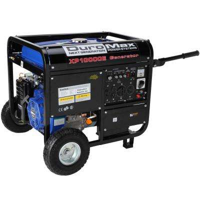 10,000-Watt Gasoline Powered Electric Start Portable Generator with Wheel Kit - CARB Approved