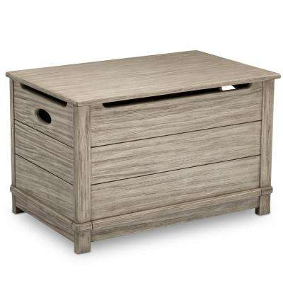 Monterey Farmhouse Rustic White Hope Chest Toy Box