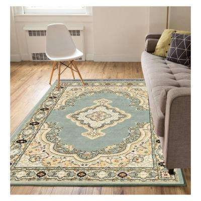 Miami Tehran Traditional Medallion Blue 9 ft. x 13 ft. Area Rug