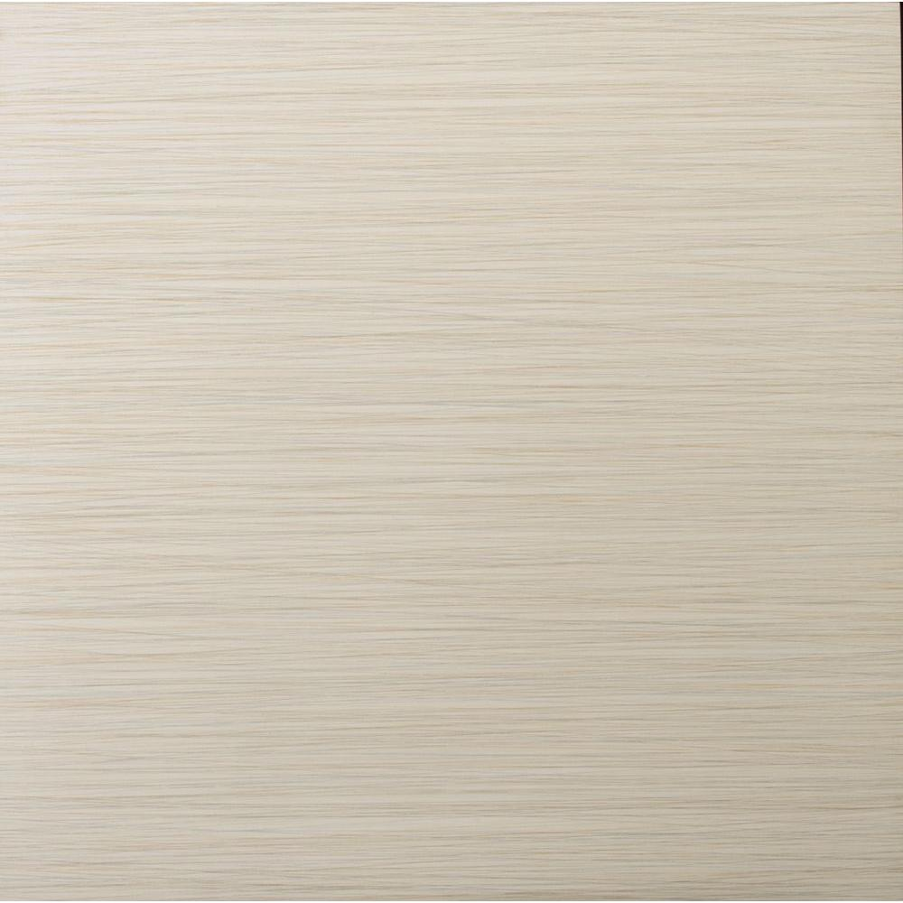 Strands 12 in. x 12 in. Oyster Porcelain Floor and Wall