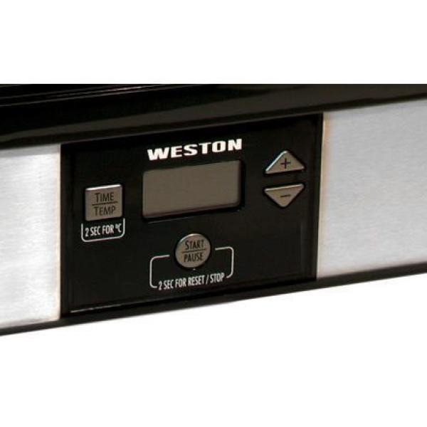 Weston-6-Tray Black Food Dehydrator with Temperature Sensor