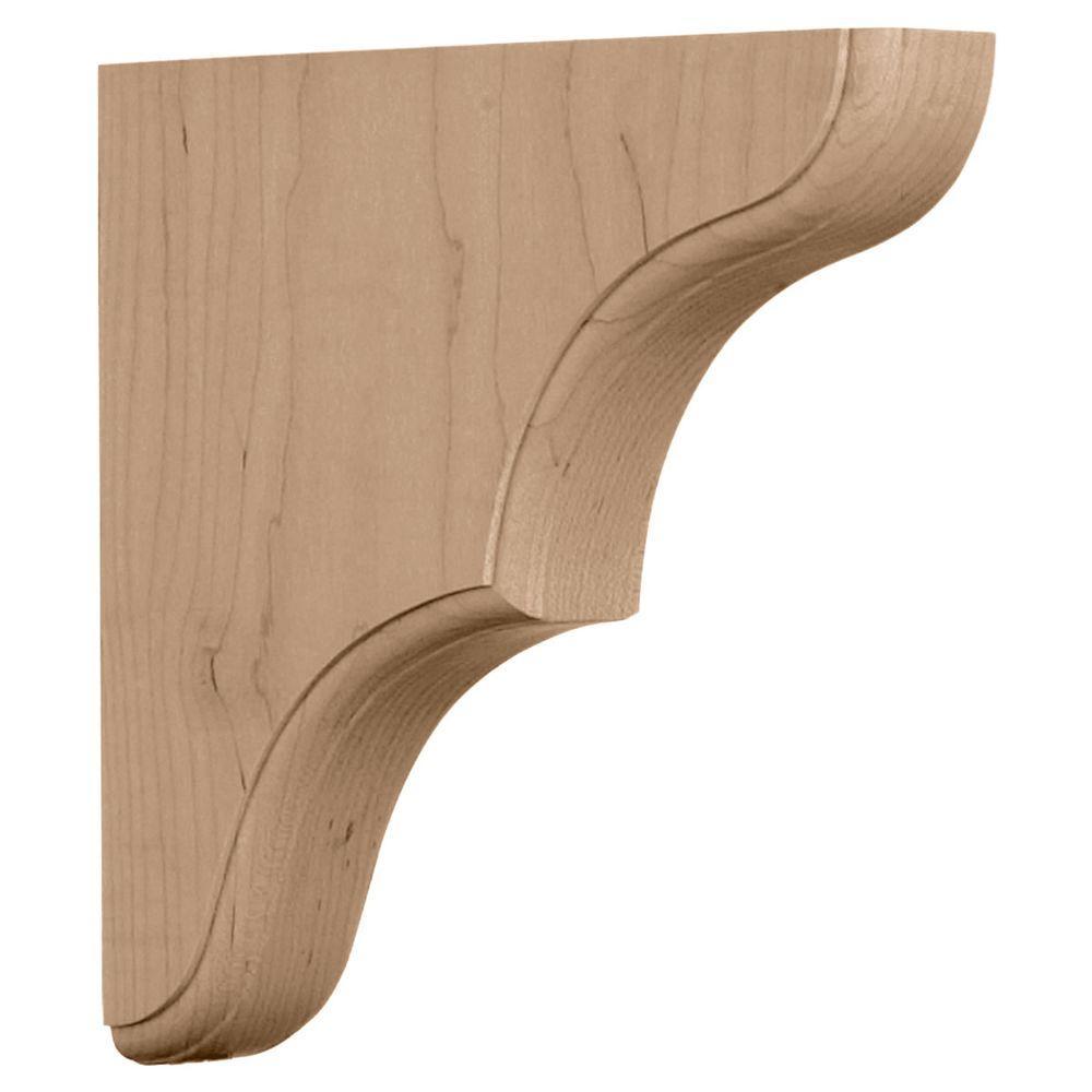 Ekena Millwork 1-3/4 in. x 10 in. x 10 in. Maple Stratford Wood Bracket