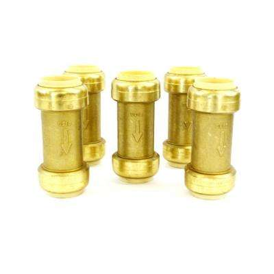 1/2 in. Brass Push Connect Plumbing Fitting Check Valve (10-Pack)