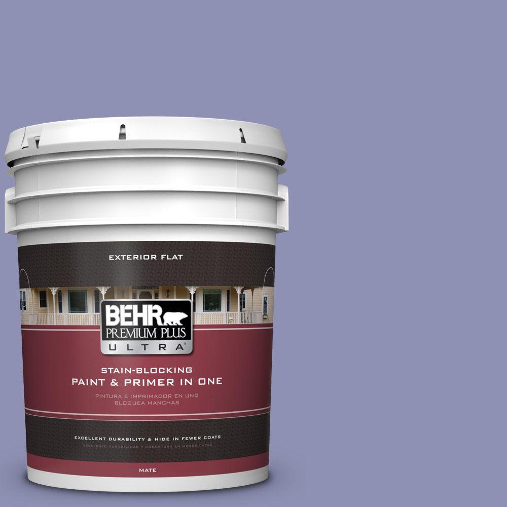 BEHR Premium Plus Ultra 5-gal. #630D-5 Wild Wisteria Flat Exterior Paint