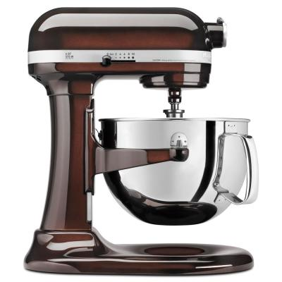 Professional 600 Series 6 Qt. 10-Speed Espresso Stand Mixer with Flat Beater, Wire Whip and Dough Hook Attachments