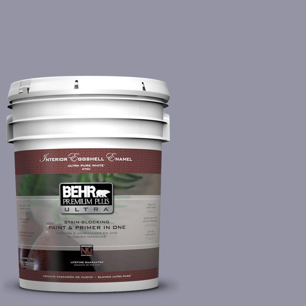 5 gal. #640F-5 Ash Violet Eggshell Enamel Interior Paint and Primer