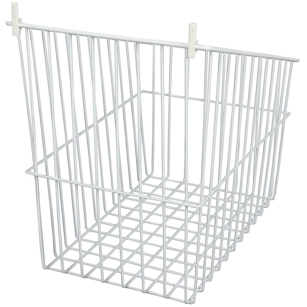 Knape & Vogt 14 in. W Tilt Out Wire Hamper in White