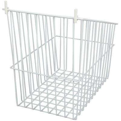 14 in. W Tilt Out Wire Hamper in White