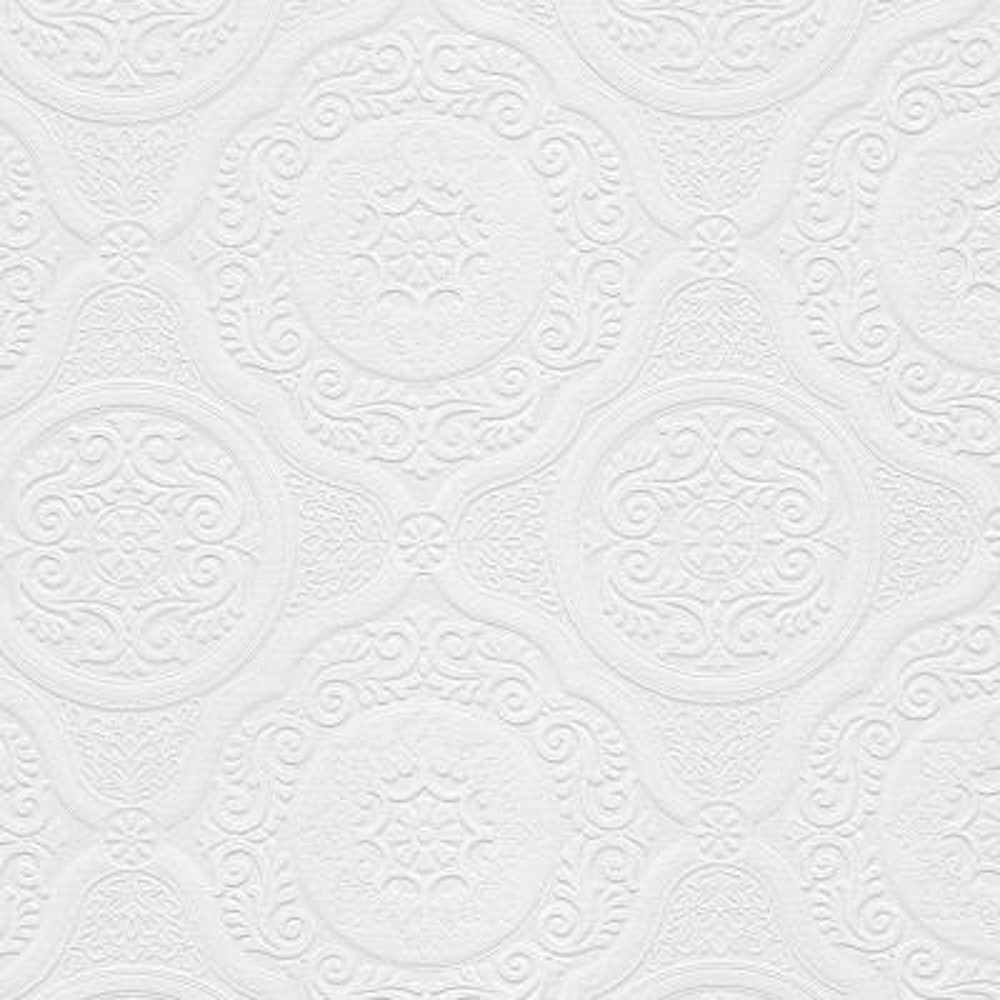 Jacobean Tile Paintable Wallpaper