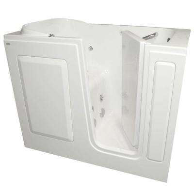 Gelcoat 48 in. x 28 in. Right Hand Quick Drain Walk-In Whirlpool Tub in White