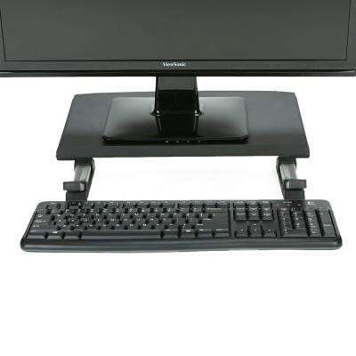 Monitor Stand Riser Adjustable Anti-Slip Ventilated Rectangle Metal for Computer, Laptop, Monitor, Black