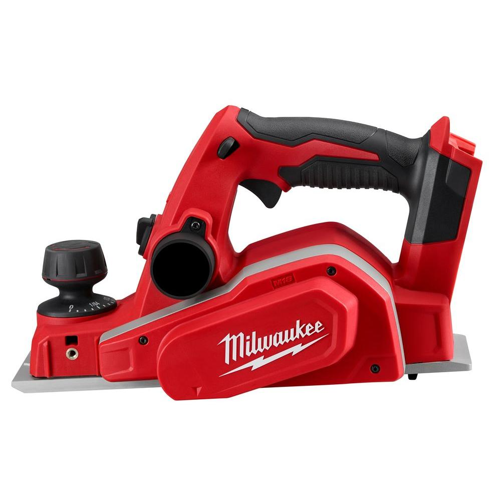 Milwaukee M18 18-Volt Lithium-Ion Cordless 3-1/4 in. Planer (Tool-Only)