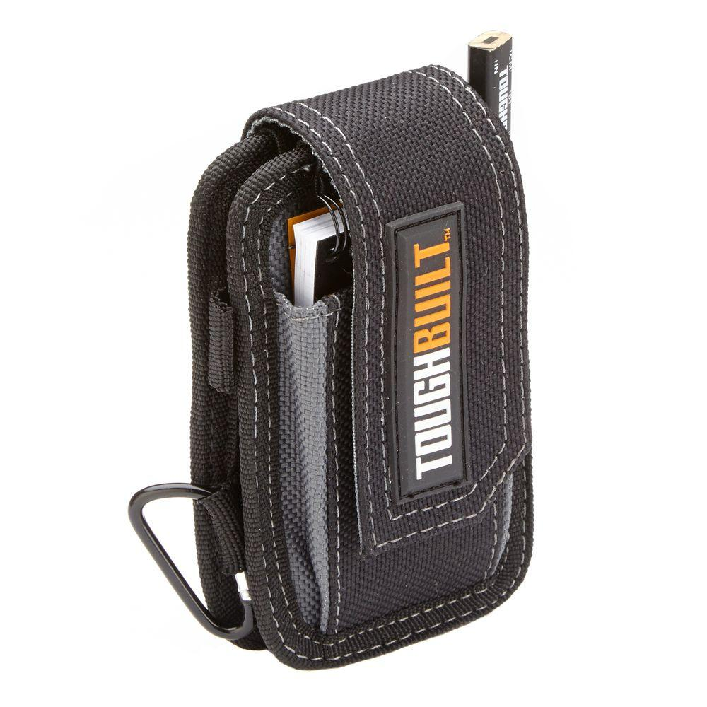 Toughbuilt smart phone pouch black tb 33 the home depot for Construction organizer notebook