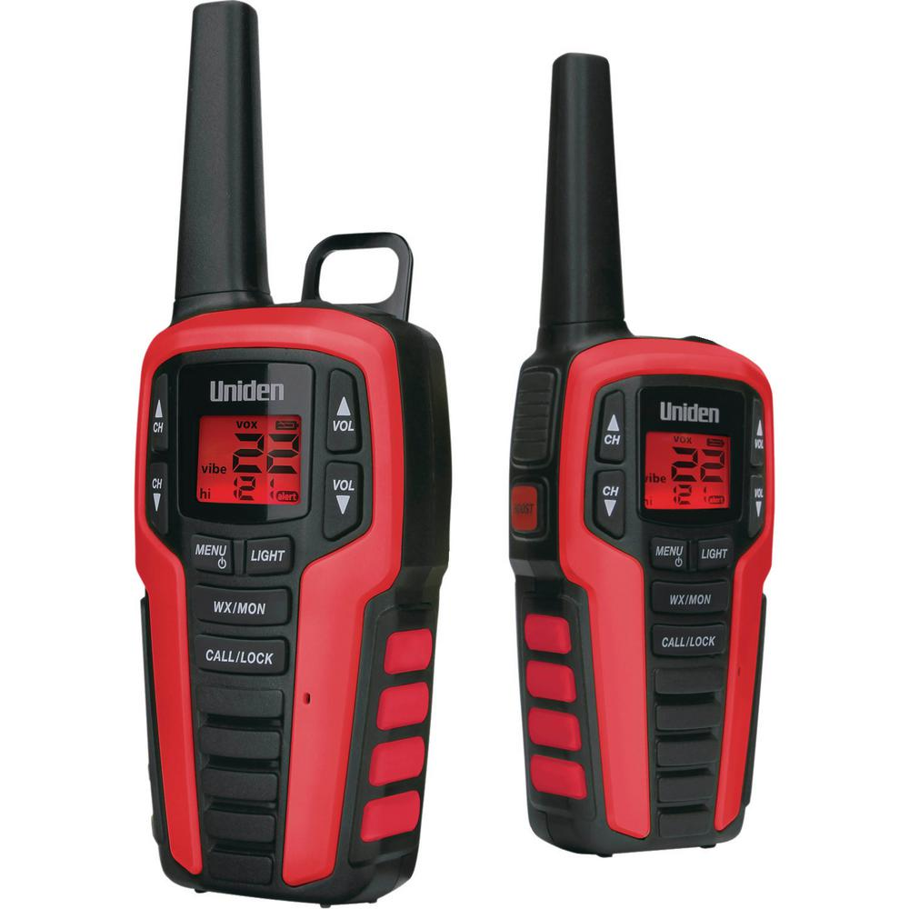 Uniden 32-Mile 2-Way FRS/Gmrs Radios with No Headsets (2-Pack) These Uniden 32-Mile 2-Way FRS/GMRS Radios are great for keeping in touch when you're out with family and friends. Whether you're camping, shopping, hiking or any other activity these radios will help you stay connected without having to worry about cell phone coverage or minutes. Enjoy simple, fuss-free two-way communication with Uniden.
