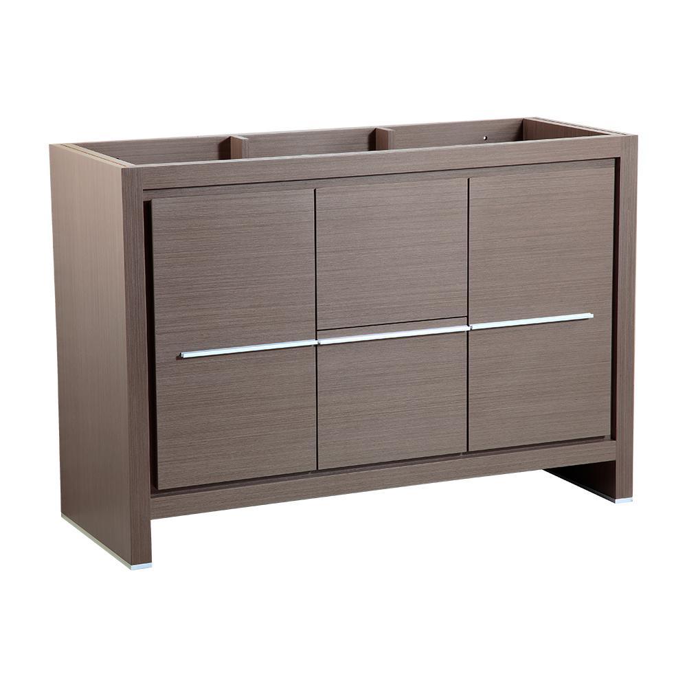 Allier 48 in. Modern Bathroom Vanity Cabinet in Gray Oak
