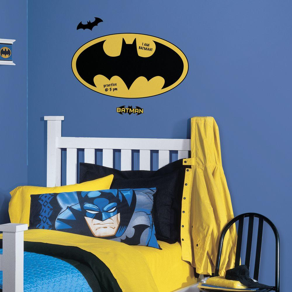 5 in. x 19 in. Batman Logo Dry Erase Peel and