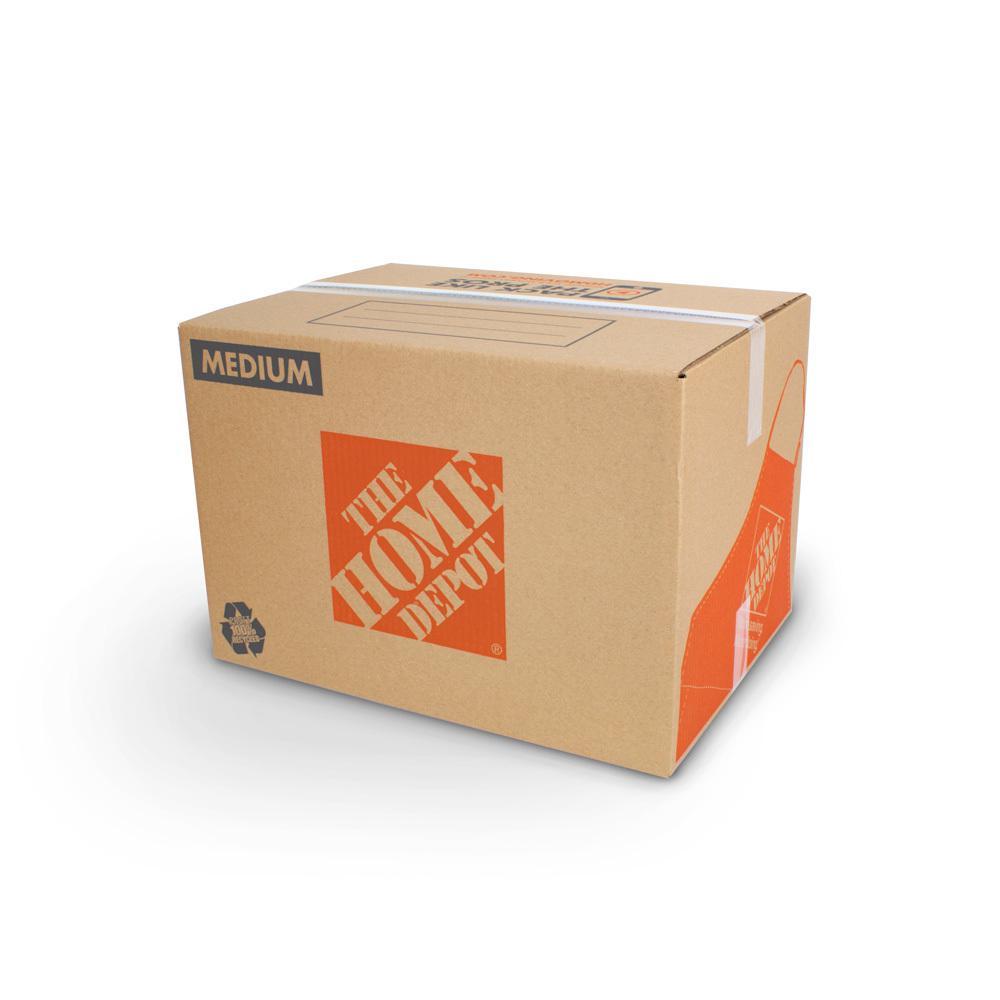 The Home Depot 22 in. L x 16 in. W x 15 in. D Medium Moving Box