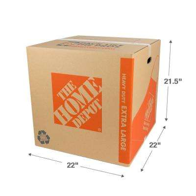 22 in. L x 22-1/2 in. W x 22 in. D Heavy-Duty Extra-Large Moving Box with Handles