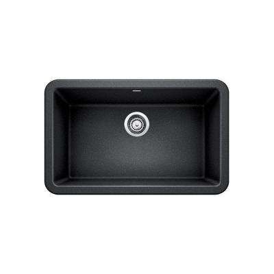 IKON Apron Front Granite Composite 29 in. Single Bowl Kitchen Sink in Anthracite