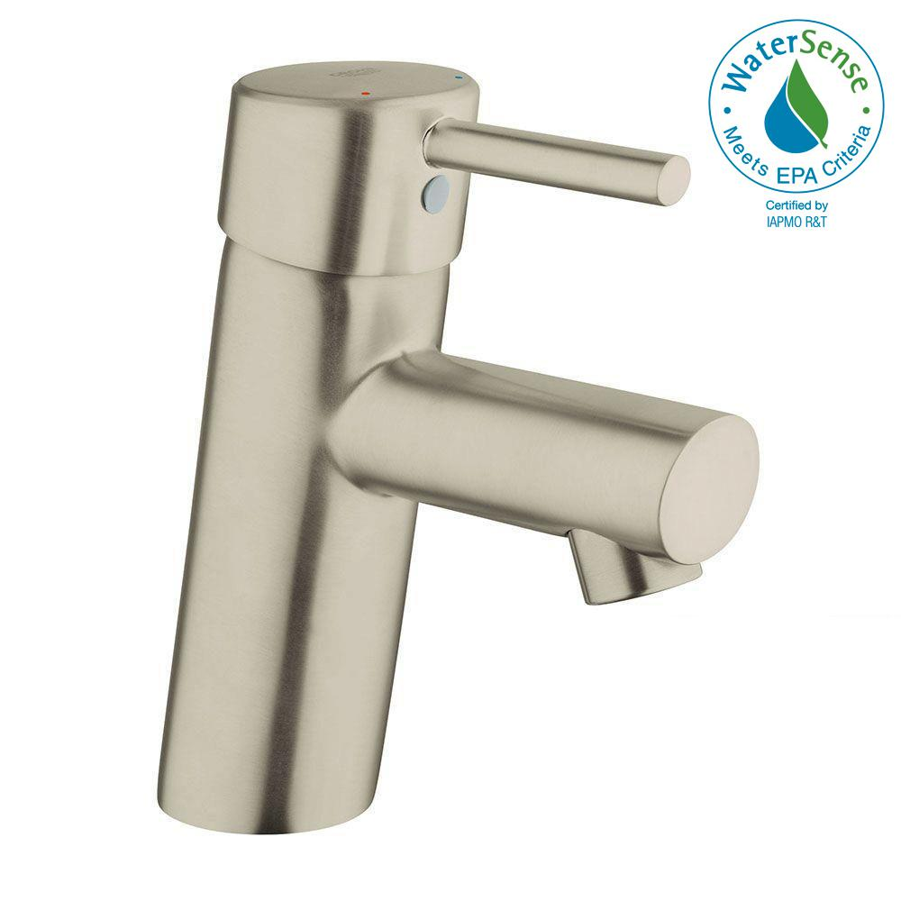 Elegant GROHE Concetto Single Hole Single Handle Bathroom Faucet In Brushed Nickel  InfinityFinish