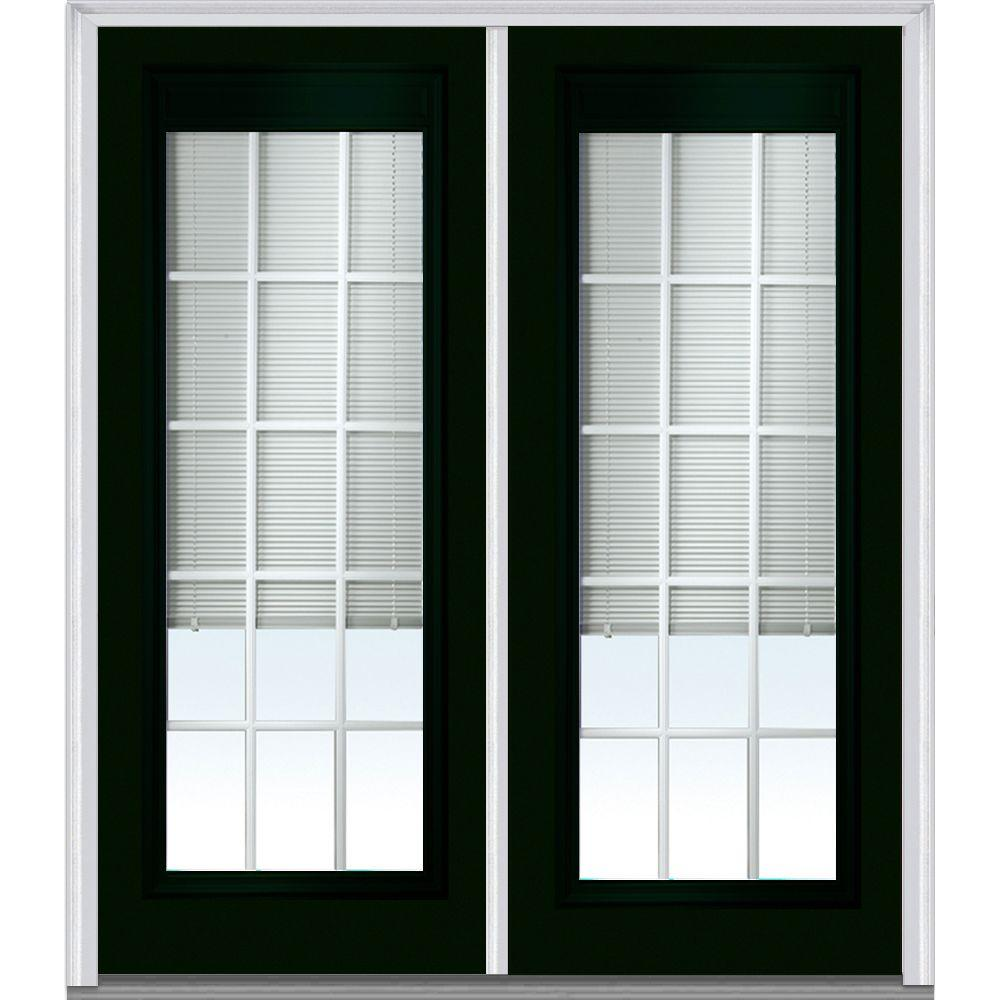 72 in. x 80 in. Internal Blinds and Grilles Right-Hand Inswing