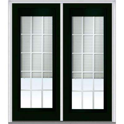 72 In. X 80 In. Internal Blinds And Grilles Right Hand Inswing Full