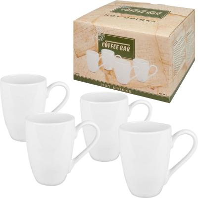 Konitz 8-Piece White Coffee Bar #9 Porcelain Mug Sets Gift Boxed