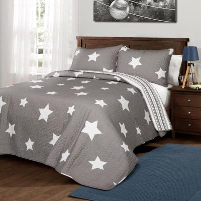 Star Quilt Gray 3-Piece King Set